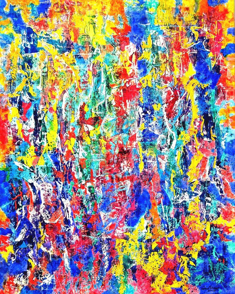 abstrakte Kunst, moderne Kunst, Ölgemälde