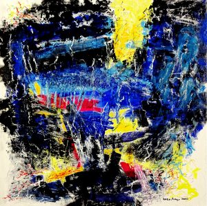 """abstract art """"Grace Under Pressure"""" inspired by Hemingways famous words which mean courage and greatness when you are challenged or in dangeru"""