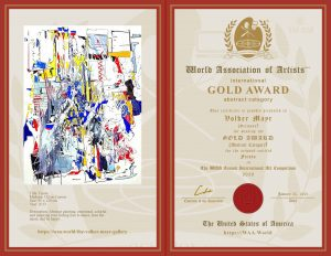 "Kunstpreis ""Gold Award"" der World Association of Artists WAA USA"