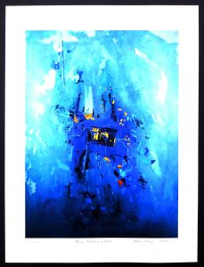 Blue, Black And White, signed Limited Edition 1 of 10 Art Print