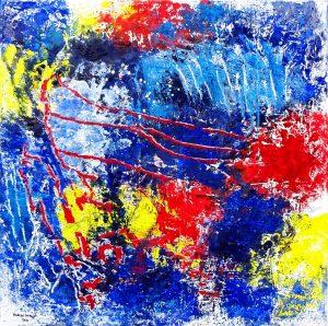 abstraktes Ölbild auf Leinwand